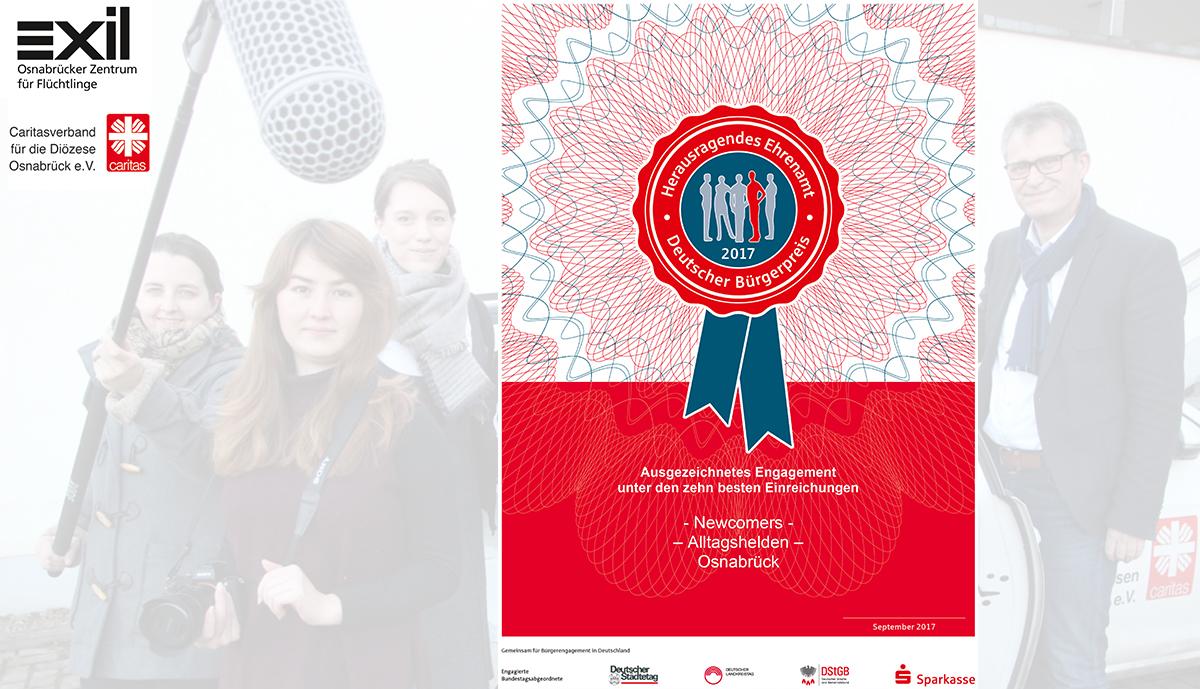 Newcomers unter den Top 10 des Deutschen Bürgerpreises
